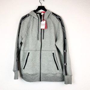Hunter Target Zip Up Hoodie Sweater Jacket Gray L